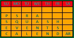 PSRA Calendar